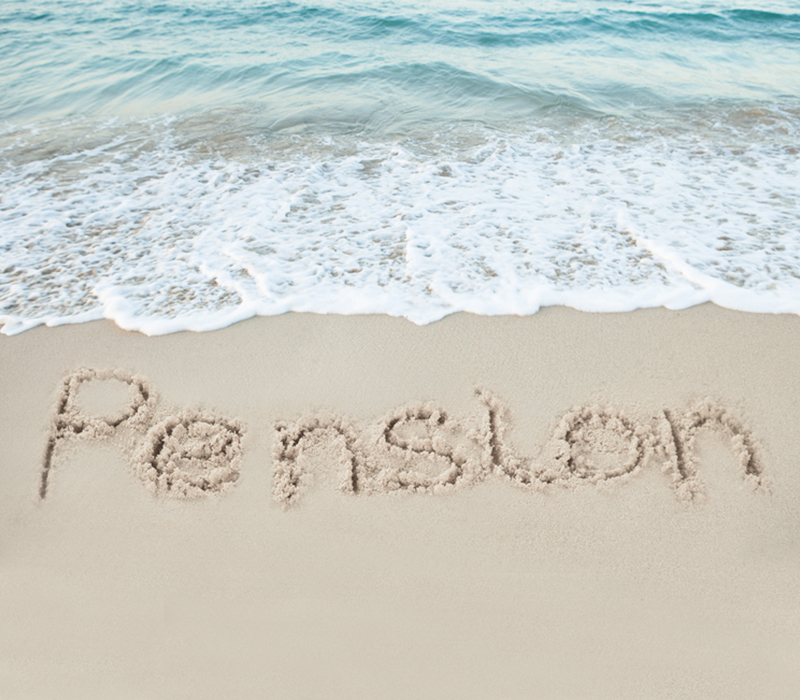 Enjoying your pension on the beach